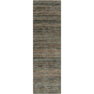 Hand-Woven Eric Stripe Hemp Textured Rug (2'6 x 8')