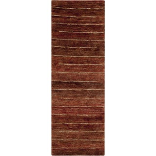 Hand-Woven Emmy Stripe Hemp Textured Rug (2'6 x 8')