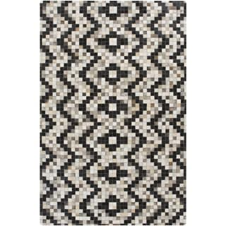 Handmade Juan Animal Pattern Leather Rug (2' x 3')