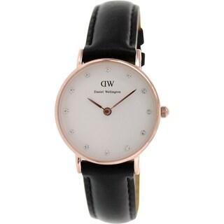 Daniel Wellington Women's Classy Sheffield White Leather Quartz Watch
