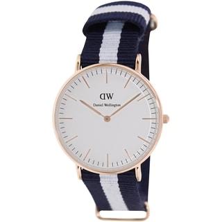 Daniel Wellington Women's Glasgow 0503DW White Nylon Quartz Watch