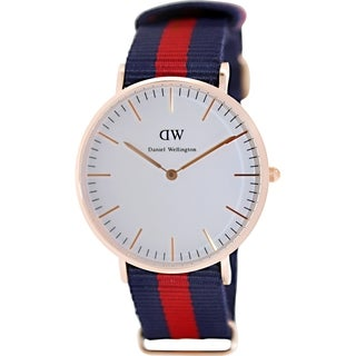 Daniel Wellington Women's Oxford 0501DW White Nylon Quartz Watch