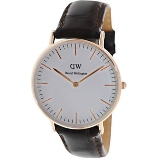 Daniel Wellington Women's York 0510DW White Leather Quartz Watch