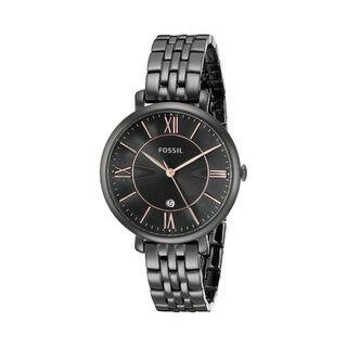 Fossil Women's Jacqueline ES3614 Black Stainless Steel Quartz Watch|https://ak1.ostkcdn.com/images/products/9830491/P16993491.jpg?impolicy=medium