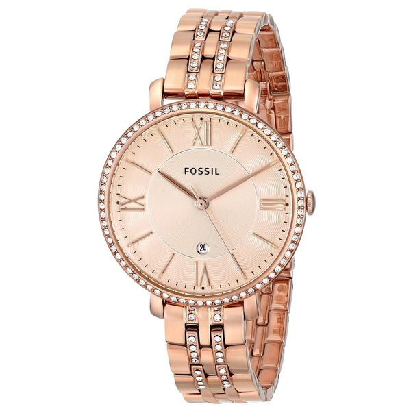 Fossil Women's Jacqueline ES3546 Rose-gold Stainless Steel Quartz Watch