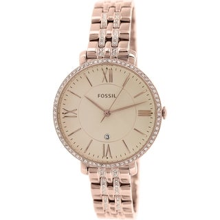 Fossil Women's Jacqueline ES3546 Rose-gold Stainless Steel Quartz Watch