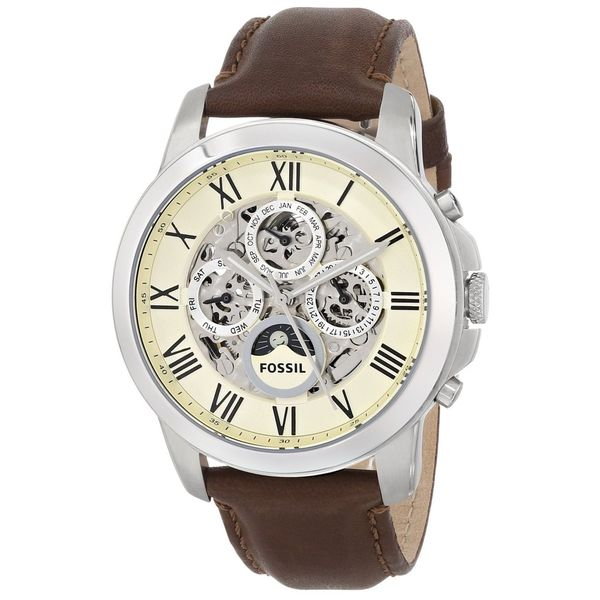 fossil men s grant me3027 brown leather automatic watch fossil men s grant me3027 brown leather automatic watch