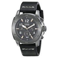 Fossil Men's Modern Machine  Black Leather Quartz Watch