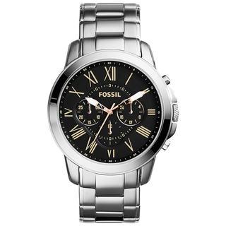 Fossil Men's Grant FS4994 Silver Stainless-Steel Quartz Watch