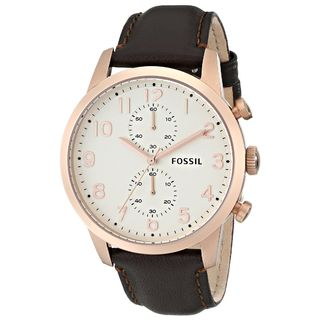 Fossil Men's FS4987 Brown Leather Quartz Watch
