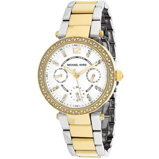 Link to Michael Kors Women's Parker MK6055 Goldtone Stainless Steel Quartz Watch Similar Items in Women's Watches