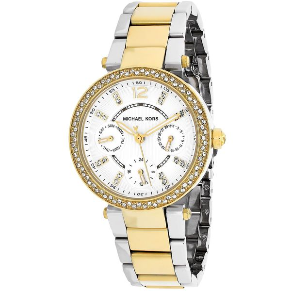 Michael Kors Women's Parker MK6055 Goldtone Stainless Steel Quartz Watch. Opens flyout.