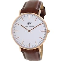 Daniel Wellington Women's Classic St. Andrews 0507DW Brown Leather Quartz Watch