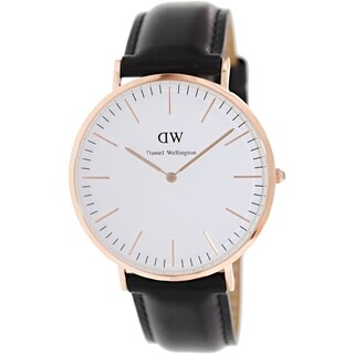 Daniel Wellington Men's Sheffield 0107DW White Leather Quartz Watch