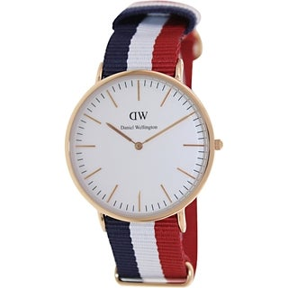 Daniel Wellington Men's Cambridge 0103DW White Nylon Quartz Watch