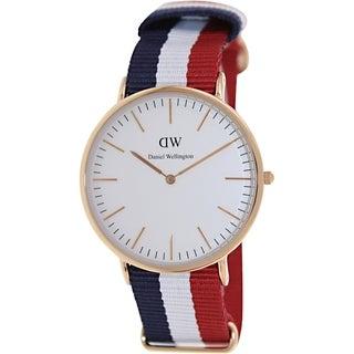Daniel Wellington Men's Cambridge White Nylon Quartz Watch