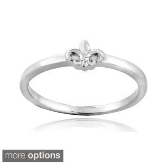 Mondevio Sterling Silver Fleur de Lis Polished Ring