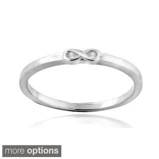 Mondevio Sterling Silver Infinity Polished Promise Ring