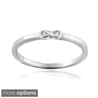 Mondevio Sterling Silver Infinity Polished Ring|https://ak1.ostkcdn.com/images/products/9830620/P16994001.jpg?impolicy=medium