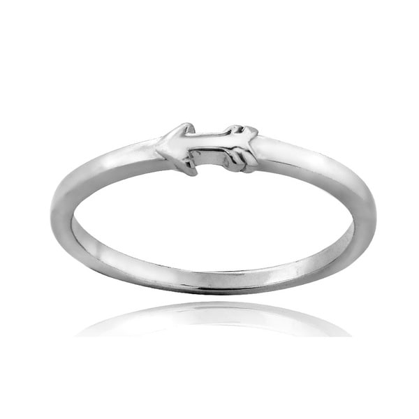 Mondevio Sterling Silver Arrow Polished Promise Ring
