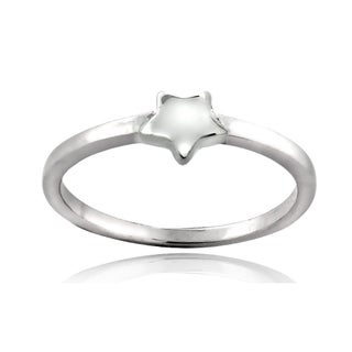 Mondevio Sterling Silver Star Polished Promise Ring (More options available)