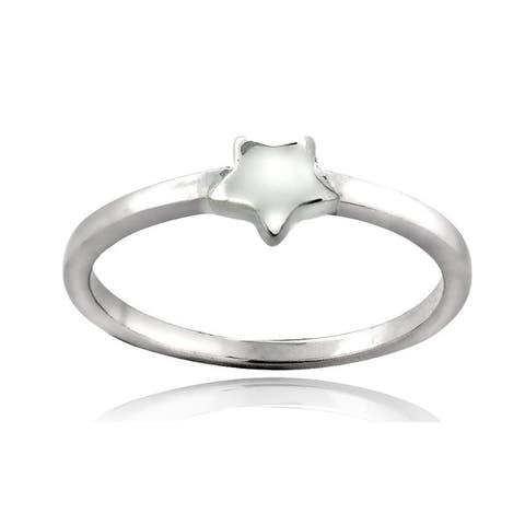 Mondevio Sterling Silver Star Polished Promise Ring