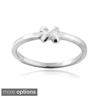 Mondevio Sterling Silver X Polished Ring