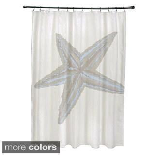 Coastal Starfish Print Shower Curtain - 71 x 74
