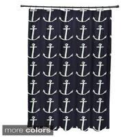 Nautical Anchor Coastal Shower Curtain - 71 x 74