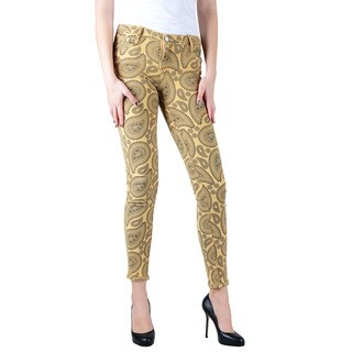Women's Bleulab Paisley/ Khaki Reversible Skinny Jean