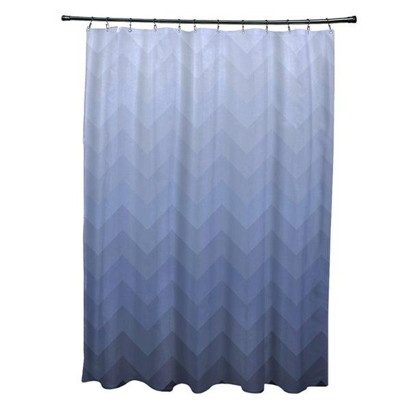Faded Chevron Pattern Shower Curtain