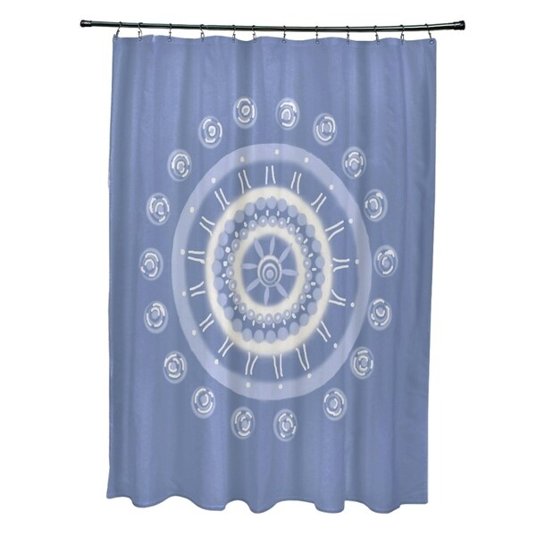Geometric Floral Burst Pattern Shower Curtain