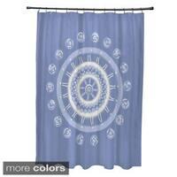 Geometric Floral Burst Pattern Shower Curtain