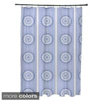 Multi-geometric Burst Pattern Shower Curtain