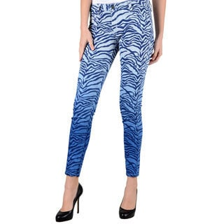 Women's Bleulab Blue/ Zebra Reversible Jeans