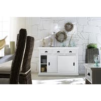 NovaSolo White Mahogany Buffet with Sliding Door