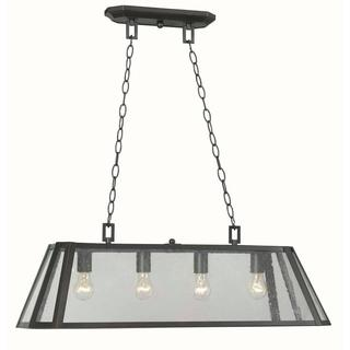 Bedford 4-light Glass Island Pendant