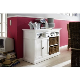 NovaSolo Mahogany Basket Set Kitchen Buffet