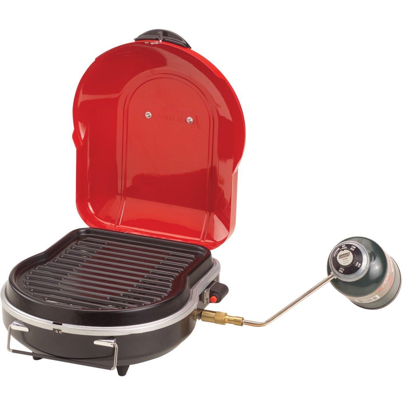 Coleman Fold-N-Go Propane Grill 1 Burner (Red)