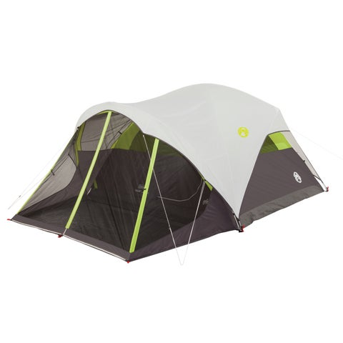 Coleman Steel Creek Green/Grey Mesh 6-person Fast-pitch Dome Tent with Screenroom