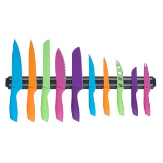 Whetstone 10-piece Multi-colored Knife Set with Magnetic Organizational Bar