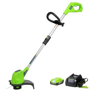 GreenWorks 21262 20-volt 12-inch Cordless String Trimmer with 2AH Battery and Charger