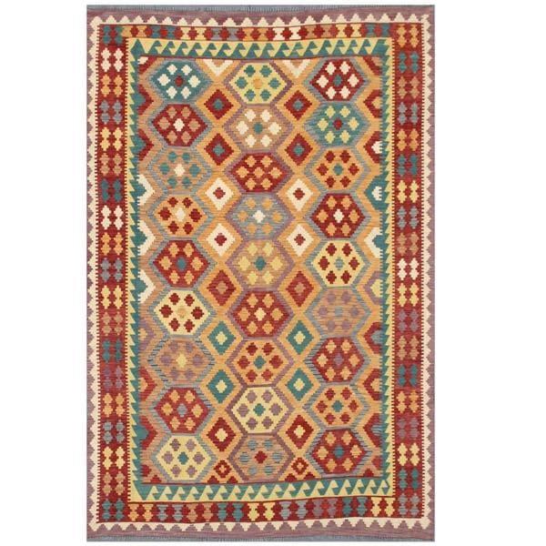 Herat Oriental Afghan Hand-woven Tribal Wool Kilim (6'4 x 9'6) - 6'4 x 9'6