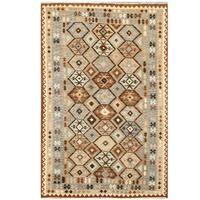 Handmade Herat Oriental Afghan Tribal Wool Kilim  - 6'3 x 9'5 (Afghanistan)
