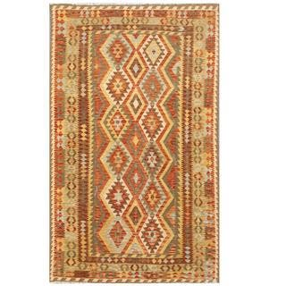 Herat Oriental Afghan Hand-woven Tribal Wool Kilim (5'10 x 9'6)|https://ak1.ostkcdn.com/images/products/9830872/P16993615.jpg?impolicy=medium