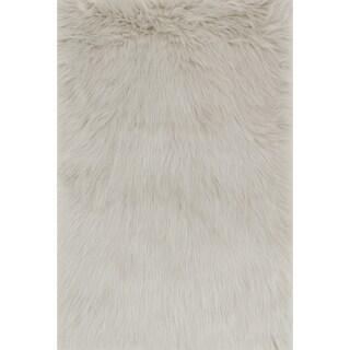 Jungle Sheep Skin Stone Rug (2'0 x 3'0)