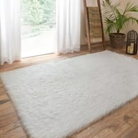 Clay Alder Home Newport Jungle Sheep Skin Stone Rug - 5' x 7'6