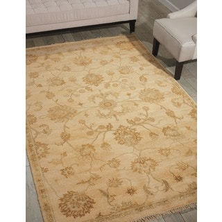 Nourison Grand Estate Beige Area Rug (5'6 x 8')