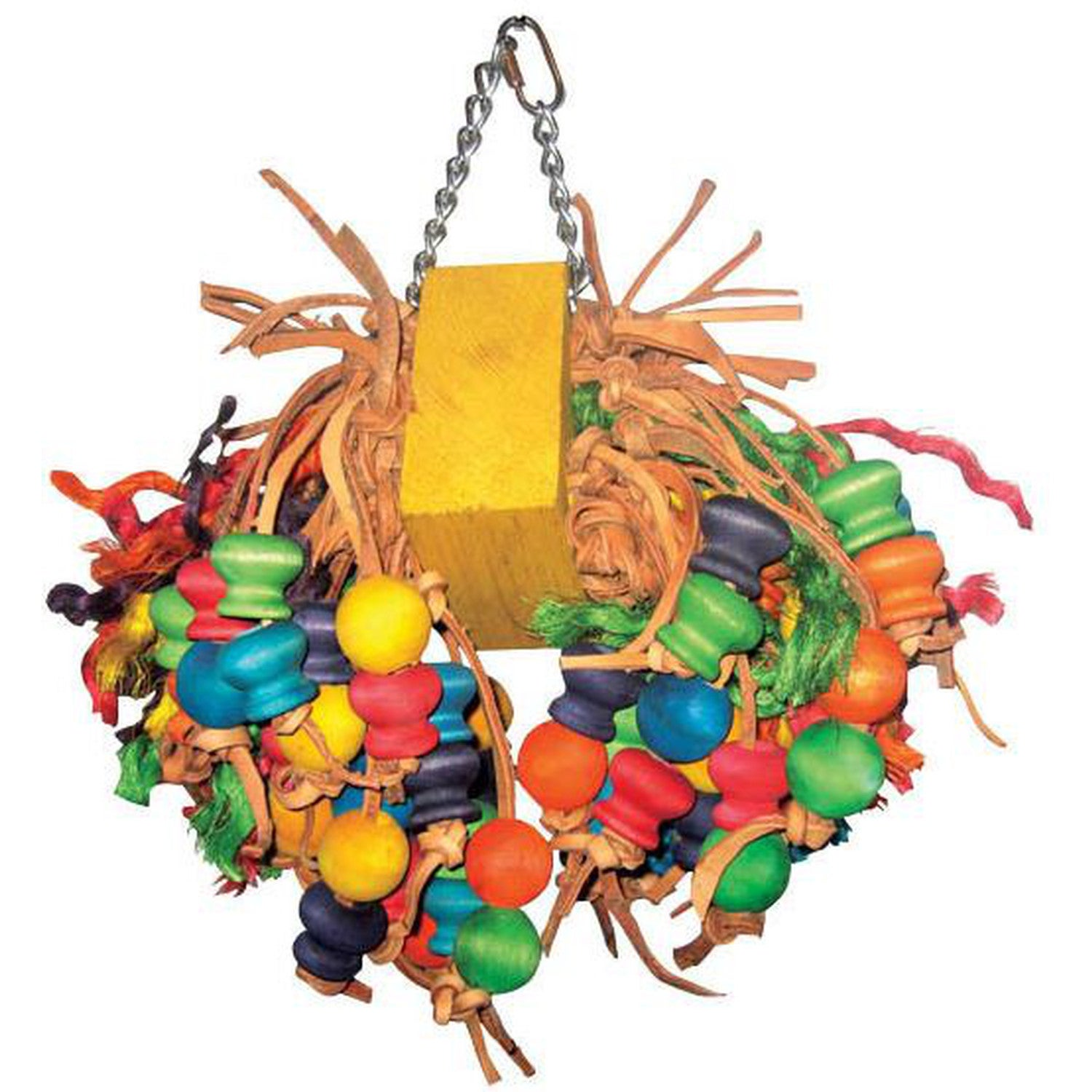 A&E Cage Medium Cluster with Hanging Wood Balls Bird Toy ...