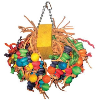 A & E Cage Co. Medium Cluster with Hanging Wood Balls Bird Toy